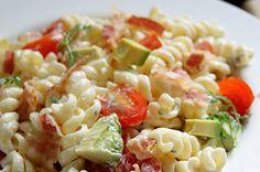 Avocado, Bacon & Tomato Summer Salad with Dill Dressing : Healthy Pasta Recipe