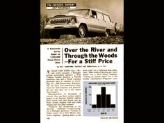 Over The River And Through The Woods - for a stiff price. 1968 owners report Jeep Wagoneer, part 01 (special thanks to Wagoneers In The Spotlight, an educational Facebook page).