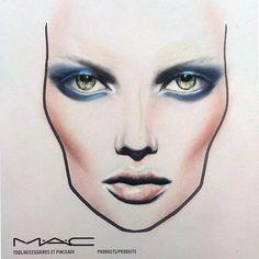 MAC face chart by Amalia Bot Mac Face Charts, Makeup Face Charts, Hand Makeup, Makeup Art, Hair Sketch, Seasonal Color Analysis, Hazel Eyes, Makeup Forever, Makeup Inspo