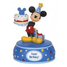 Mickey Mouse With Cake - Musical - Disney - Figurines - Precious Moments