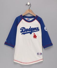Take a look at this Blue Dodgers Raglan Tee - Boys by MLB on #zulily today!