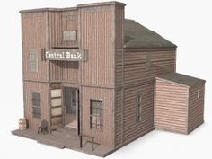 www.turbosquid.com Wild West Buildings - Bank