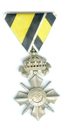 Bulgaria   Order of Military Merit 1891 Silver Merit Cross with Crown