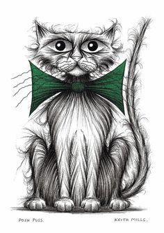 Posh puss Print download on Etsy, $5.16