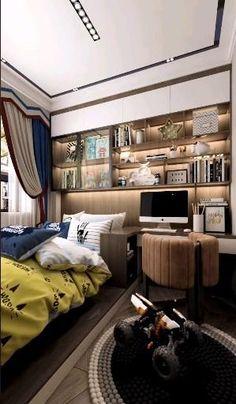 Small Room Design Bedroom, Small Bedroom Interior, Modern Luxury Bedroom, Small House Interior Design, Small Apartment Design, Bedroom Furniture Design, Home Room Design, Luxurious Bedrooms, Bedroom Layouts