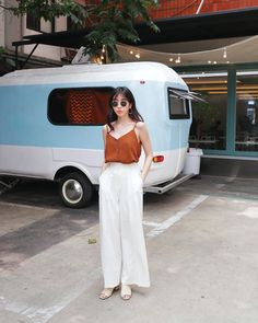 Korean Fashion – How to Dress up Korean Style – Designer Fashion Tips Summer Dress Outfits, Summer Fashion Outfits, Summer Outfits Women, Trendy Outfits, Fashion Clothes, Ulzzang Fashion Summer, Korea Fashion, Asian Fashion, New Fashion