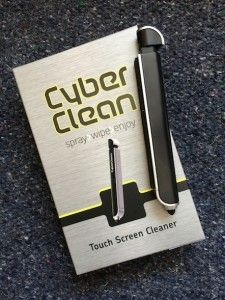 Our review of Cyber Clean Touch Screen Cleaner - it cleans up dirty smartphone and tablet screens to a nearly new shine!