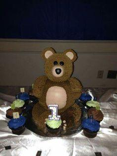 Teddy bear fake cake