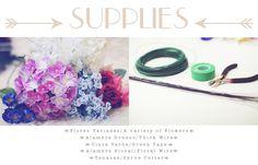 materiales necesarios para realizar la corona floral