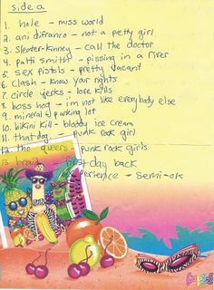 This Handwritten Mixtape List From 1998 Is IncrediblyAwesome
