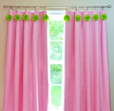 What a fun way to dress up ordinary curtains in your nursery!