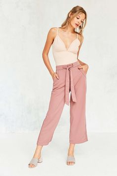 BDG Arielle Tie-Waist Pant - Would get these if BDG didn't suck