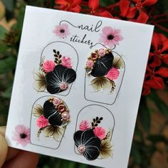 Nails Inspiration, Pedicure, Nail Designs, Alice, Nail Art, Stickers, Flowers, Instagram, Craft Foam
