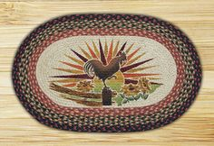 Rooster Printed Area Rug