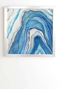 Viviana Gonzalez AGATE Inspired Watercolor Abstract 02 Framed Wall Art | DENY Designs Home Accessories