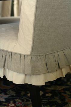 Ruffled Slip Covers