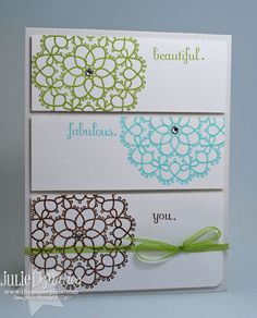 Beautiful Fabulous You HandStamped Stampin' Up by JulieLouDesigns, $3.50