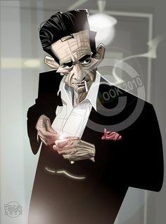 [ Johnny Cash ] - artist: Russ Cook - website: http://www.russcook.co.uk/index.htm