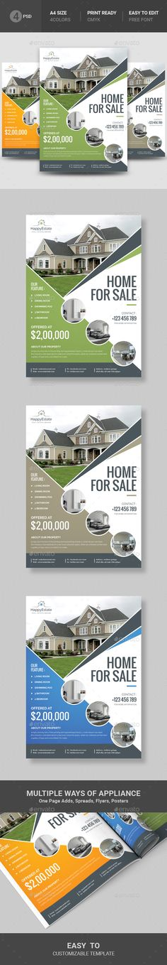 best real estate email flyer template