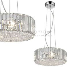 Wisząca LAMPA glamour BRADLEY P0360-05B-F4AC Italux kryształowa OPRAWA zwis crystal przezroczysty