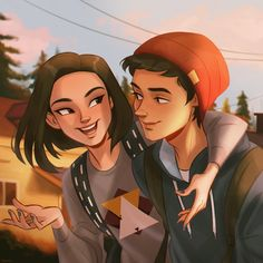 Cool Art Drawings, Couple Drawings, Art Sketches, Arte Copic, Character Inspiration, Character Art, Life Is Strange Fanart, Cute Couple Art, Couple Illustration