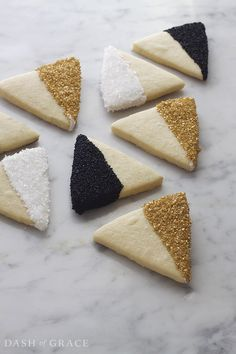 Geometric Sparkle Sugar Cookies