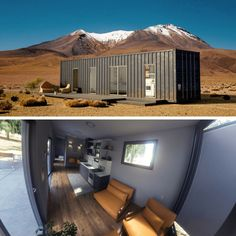 Looking for the next shipping container home to drool over? Dustin from Containers Custom submitted his container home with the most jaw dropping photos! Made with 18 Containers, this shipping container home. Building A Container Home, Container House Design, Cargo Container Homes, Eco Construction, Shipping Container House Plans, Shipping Containers, Casas Containers, Traditional House, Ground Floor