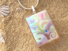 Swirls Satin Dichroic Necklace  Dichroic Jewelry by ccvalenzo, $24.00