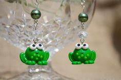 Hand made cute kawaii frog dangle earrings with by KnickNatsCrafts, Dangle Earrings, Dangles, Kawaii, Cute, Handmade, Jewelry, Hand Made, Jewlery, Kawaii Cute