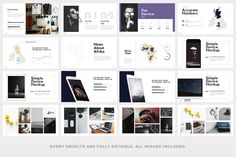 Hubble - Modern Powerpoint Template by PitchLabs on @creativemarket