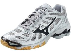 723c34a40c96 Mizuno (430155) Wave Lightning RX2 Women's Shoe Silver/Black size 6 All  Volleyball