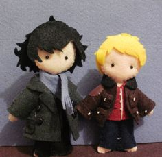 I love this kind of stuff, but I'm a terrible seamstress! I could have pocket-sized Sherlock figures, but alas, I cannot sew well.