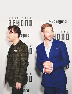 Zachary and Chris at the Star Trek Beyond premiere in Sydney