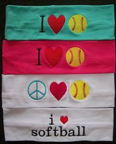 Softball Stretch Headbands. $9.00, via Etsy.