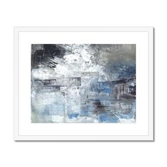 Extra large blue abstract painting, modern acrylic art, original abstract art, texture painting Contemporary Frames, Blue Abstract Painting, Texture Painting, Beautiful Paintings, Fine Art Paper, Framed Art, Original Art, Art Prints, Ships