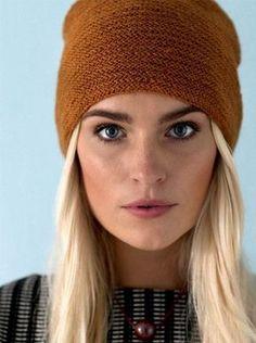 Knitting pattern: Hat with folding edge - ALT.