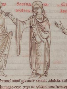 1150 - Terence's Comedies, in Latin, with Romanesque drawings. 94v