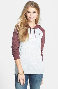 Volcom 'Lived In' Hoodie (Juniors) available at #Nordstrom