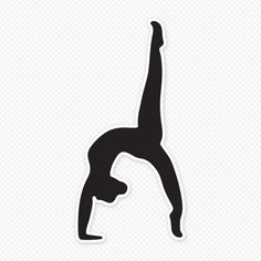 Great for bedroom walls or doors, this female gymnast silhouette wall sticker is available in various sizes for you to choose from. Get it at Sticker Genius. Gymnastics Logo, Gymnastics Handstand, Gymnastics Cakes, Gymnastics Skills, Gymnastics Birthday, Olympic Gymnastics, Olympic Games, Black Gymnast, Female Gymnast