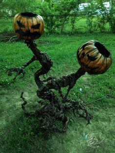 Twin Pumpkin monster by Ethan Black http://ethanblackmonstermaker.blogspot.com/