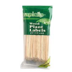Luster Leaf 811 Rapiclip Wood Plant Label, 5-Inch Length, Pack of 24 by Luster Leaf. Save 37 Off!. $7.31. It measures 5-inch length. Rapiclip wood plant label. 24 wooden plant labels per pack. This Rapiclip wood plant label come in 24 labels per pack. It measures 5-inch length.