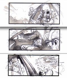 "A french ""young"" talented storyboard artist, ( i know him little ^^) : JONATHAN DELERUE ! "" Transporter"" cars chase sequence"