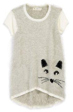 e03ab3c586c Tucker + Tate  Mika  Intarsia Kitty Face Sweater Tunic (Toddler Girls