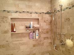 Bathroom niche ideas medium size of subway tile shower niche ideas Recessed Shower Shelf, Tile Shower Niche, Bathroom Niche, Bathroom Wall Panels, Shower Shelves, Small Bathroom, Bathroom Ideas, Master Bathroom, Shower Ideas