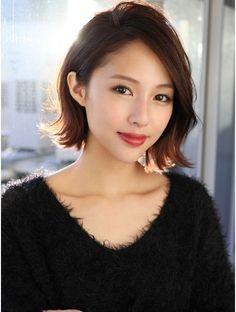 natural beauty look. Medium Hair Styles, Short Hair Styles, Hair Arrange, Japanese Hairstyle, Asian Hair, About Hair, Cute Hairstyles, Short Hair Cuts, Asian Beauty
