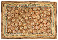 Unknown Maker Wool Antique Hooked Rug, Cat's Paw Pattern, Early Century, by Penny Rugs, Vintage Hooks, Vintage Rugs, Cat S, Rug Studio, Latch Hook Rugs, Rug Inspiration, Hand Hooked Rugs, Rug Hooking