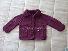 Blog sobre tejidos a dos agujas. Podrás aprender a tejer nuevas puntadas de tejidos, bufandas, gorros, chaquetas y jerseis. Baby Cardigan, Knit Cardigan, Knitting For Kids, Baby Knitting, Lana, Knitted Hats, Knit Crochet, Pullover, Sweaters