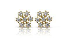 Diamond stud earrings  Diamond earrings Snowflakes earrings Bridal Earrings, Etsy Earrings, Diamond Earrings, Mens Gold Signet Rings, Simple Wedding Bands, Braided Ring, Quality Diamonds, Pendant Set, Chain Pendants
