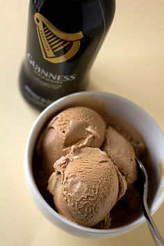 Guinness-milk Chocolate Ice Cream With Milk Chocolate, Whole Milk, Granulated Sugar, Salt, Egg Yolks, Heavy Cream, Stout, Vanilla Extract