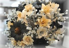 2014 spring home black and white flower arrangement   Black and White Floral Arrangements - ACCENTS AND PETALS